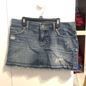 Destroyed Mini Jean Skirt